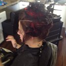Pull apart braid updo Halloween Hair by Christy Farabaugh