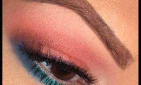 Summer Eye Makeup Tutorial | Coral and Teal