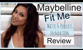 Maybelline Fit Me Matte & Poreless Foundation Review │ 130 Buff Beige
