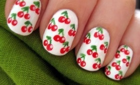 Cherry Design for Short Nails