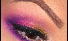 Sugarpill Makeup Tutorial | Gold, Pink, and Purple Eyes