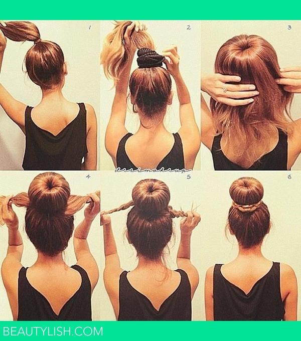 Как сделать бублик на голове самой