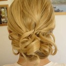 medium length updo