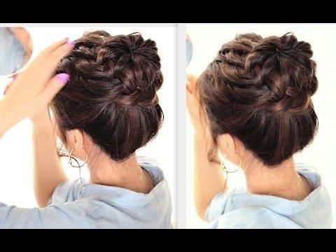 Starburst Braided Bun Hairstyle Cute Summer Braids Hairstyles