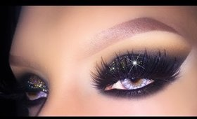 Sexy Black Smokey Eye with Gold Glitter - Holiday 2015 Christmas/New Years Eve Makeup Tutorial