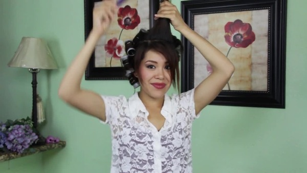 How To Side Swoop Bangs Pin Up With Pin Curl Linda M Video