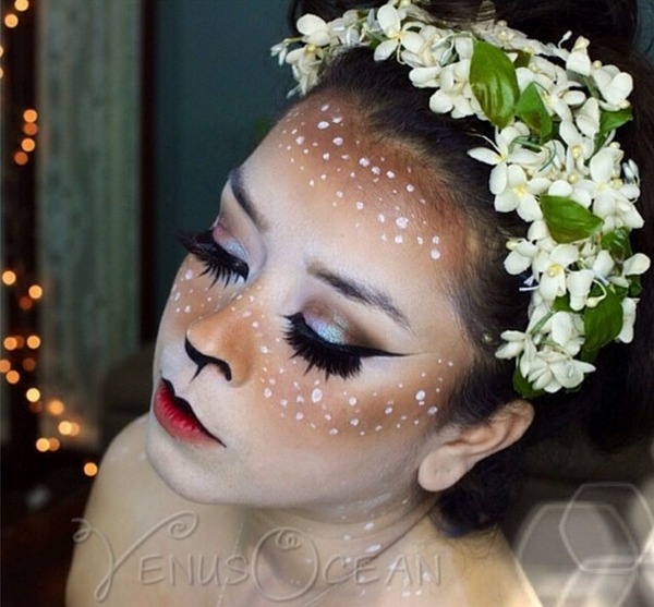 doe deer makeup tutorial halloween esmeralda p 39 s venusocean photo beautylish. Black Bedroom Furniture Sets. Home Design Ideas