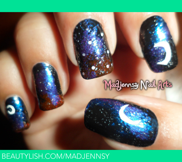 Nail Art Night: Dark Starry Night Nail Art!