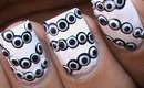 Black And White Nail designs- Nails Polish Polka Dots Cute Simple & Easy (Long & Short Nails)