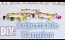 DIY Adjustable Bangles {Arm Candy/Party}