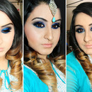 Glitzy Blue Smokey Eyes