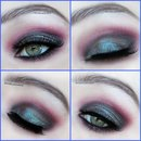 Mac blue brown makeup smokey look