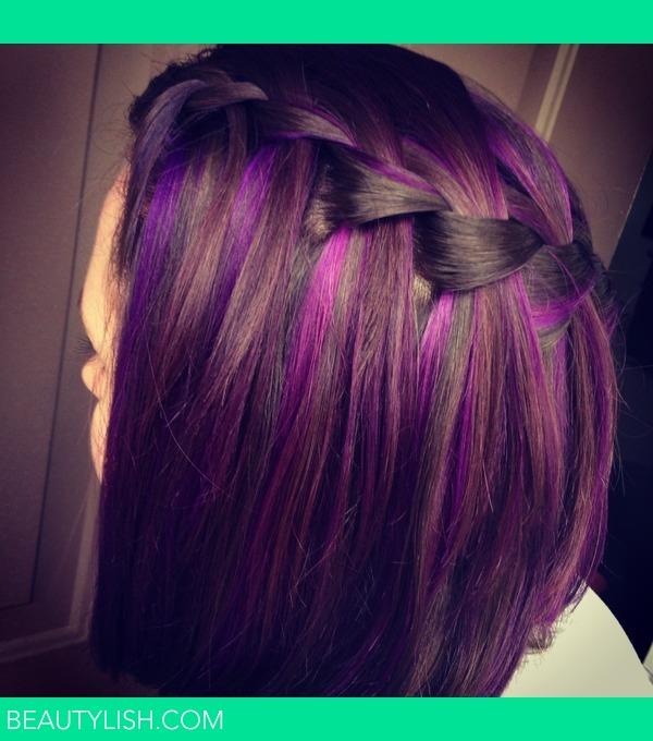 Purple highlights | Kasey M.'s Photo | Beautylish