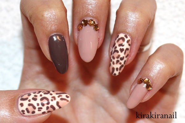 Fall Leopard Nails Kirakiranail K S Kirakiranail