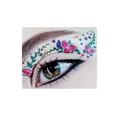 Rock cosmetics eye rock eye tattoos flowers beautylish for Clean rock one tattoos