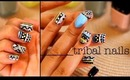 Tribal Nails Tutorial ft. LVX Nail Polish