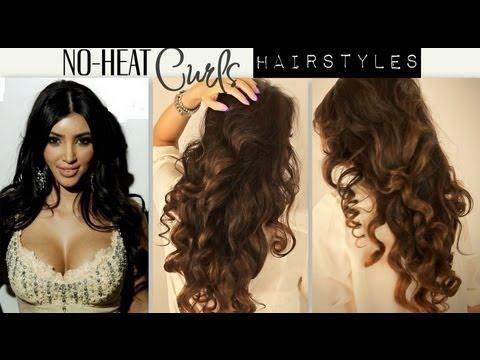 ★kim Kardashian Big Curly No Heat Curls Waves Cute