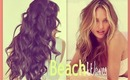 ★VICTORIA'S SECRET HAIR | HOW TO CURL BEACH WAVES HAIRSTYLES FOR MEDIUM LONG HAIR TUTORIAL & OOTD