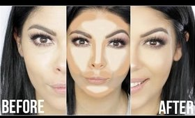 EASY NATURAL CONTOUR AND HIGHLIGHT MAKEUP TUTORIAL | HOW TO | SCCASTANEDA