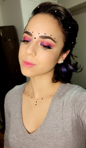 I saw these pearls and gems at Michael's crafts store and was inspired to create this fairy look! Goes well with the color my hair faded to as well!