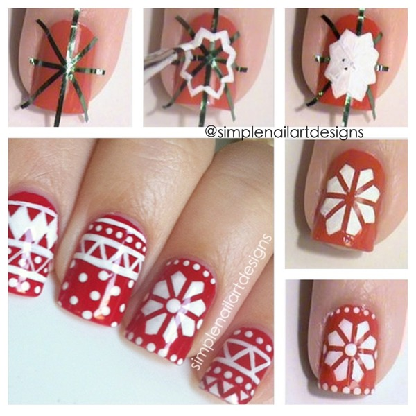 Christmas Nail Art Tutorial Gingerbread Galore: Holiday Sweater Nail Art Tutorial