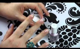 DIY Sparkly French Manicure