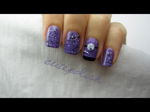 despicable me 2 evil purple minion nails cutepolish