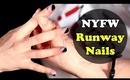New York Fashion Week Easy & Edgy Tape Manicure Tutorial.