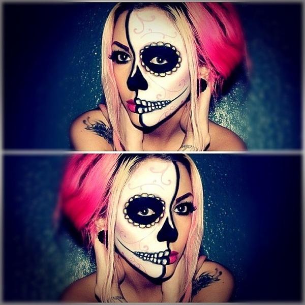 Раскраска на хэллоуин на лицо
