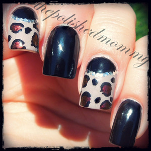 #nailartaug :re-create,animal print and match OOTD. http://www.thepolishedmommy.com/2013/09/date-night-nails.html