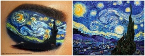 recreating one of my favorite paintings on my eye (: