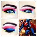 Superman comic makeup look