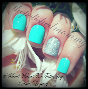 RIP beautiful Talia... http://www.thepolishedmommy.com/2013/07/mint-mani-for-talia-joy.html
