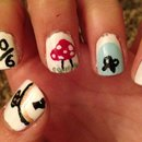 Alice in wonderland nails :)