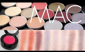 MAC Eyeshadow Swatches 34 Colors