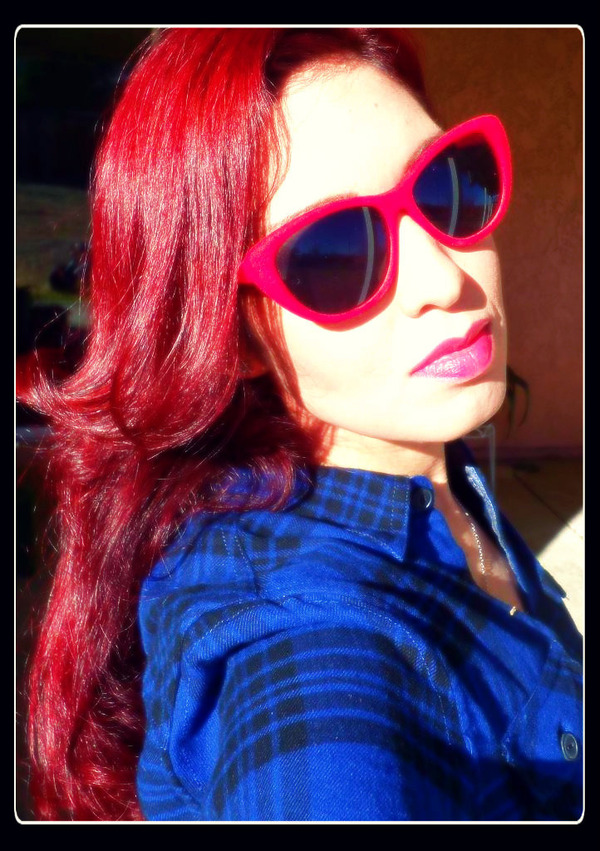 infra red hair by manic panic