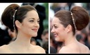 Marion Cotillard Inspired 5 Mintues Updo or Hairstyle For Medium To Very Long Hair
