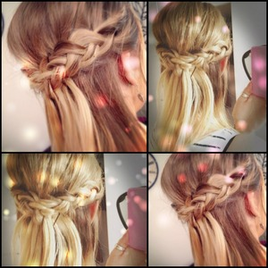 Inside-out-braids that I mastered at one party <3