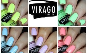 Virago Varnish California Bleached Collection Live Swatch + Review!