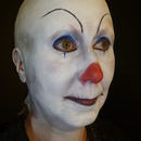 IT the clown makeup with baldcap