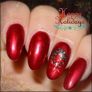 #nailartdec -decorations. >>>>http://www.thepolishedmommy.com/2013/12/merry-christmas.html