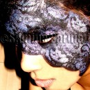 Purple & Black Lace Effect Goth/Masquerade Look