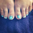 My work - Pedicure with Shellac