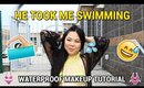 🏊 HE TOOK ME SWIMMING ♥ Tutorial Collab with Nicole Marie | MakeupANNimal