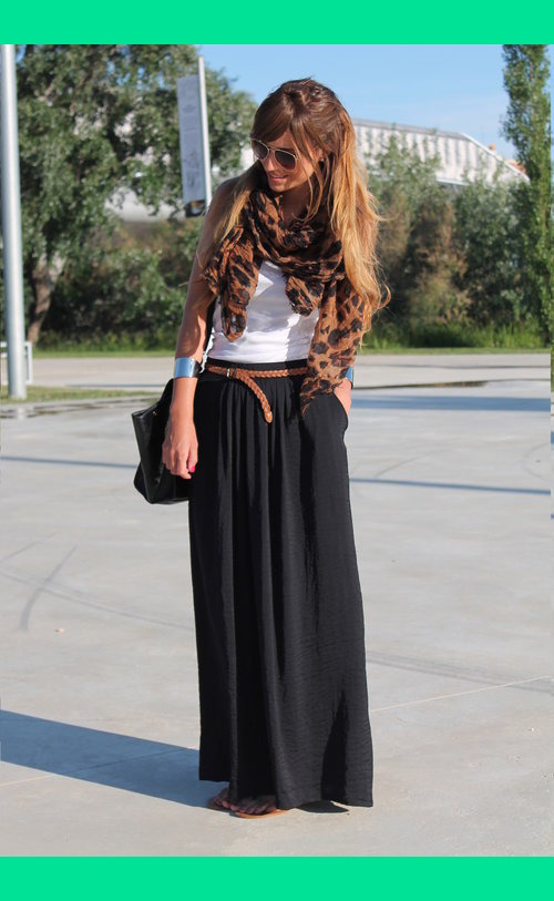 High Waist Maxi Skirt With Split – images free download