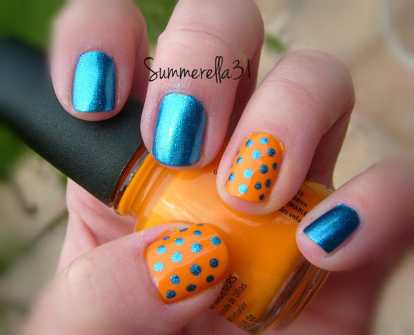 Okc thunder nails summer as wonderland nails photo beautylish prinsesfo Image collections