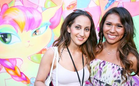 Community members pose at Beautylish IMATS LA event