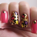Valentine's Leopard Nails