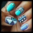 Funky Summer Tribal Nails