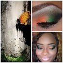 Orange And Green Fall Inspired Makeup